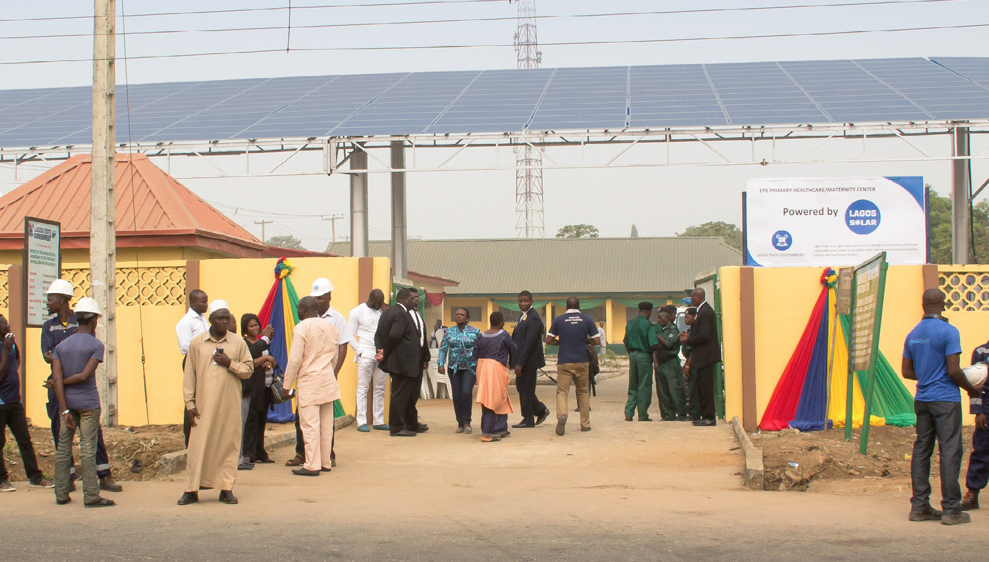 Solar panels at Epe Healthcare and Maternity Centre, Epe, Lagos State, Nigeria